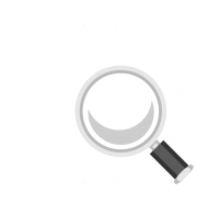 global icon and magnifying glass